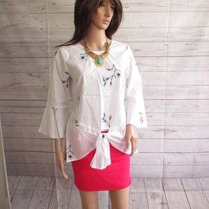 NWT - DR2 pretty blouse - sz S - MSRP $68.00